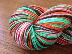 True Believers  Self Striping Hand dyed yarn. by BlackMarketWool, $25.00