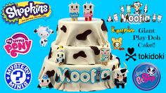 HUGE Tokidoki Moofia Play Doh Cake - Cactus Kitties, Royal Pride, Shopki...
