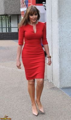 Carol Vordeman, Bollywood, Most Beautiful Faces, Sexy Older Women, Fashion Images, Tight Dresses, Lady In Red, Lace Dress, Celebrity Style
