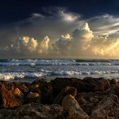 Storms off shore