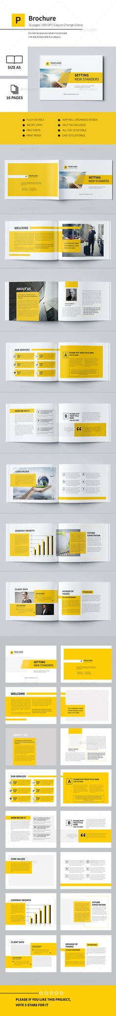 Minimal Business Brochure Template #design Download: http://graphicriver.net/item/minimal-business-brochure-ii/12243729?ref=ksioks