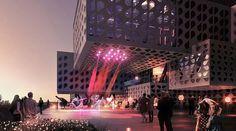 Music and Dance Center, Ashkelon, Israel, Manuelle Gautrand Architecture, theater design, cultural facility, multi-purpose venue, exhibition hall, metal cladding