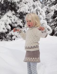 Ravelry: Frost/ pattern by Kari Hestnes Knitting For Kids, Baby Knitting, Knit Crochet, Crochet Hats, Cute Skirts, Baby Sweaters, Winter Holidays, Frost, Baby Kids