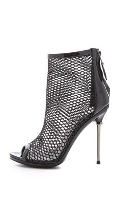 23754aca264 B Brian Atwood Michelet Mesh Booties in Black