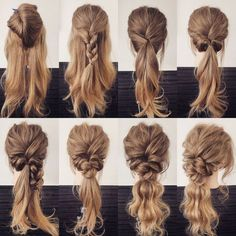 "Hairstyles - The Most Crazy Hairstyles Crazy hairstyles for mens and womans, top hairstyles and kids facial hairstyles"", ""pinner… Step By Step Hairstyles, Top Hairstyles, Pretty Hairstyles, Braided Hairstyles, Hairdos, Bridesmaid Hair, Prom Hair, Medium Hair Styles, Curly Hair Styles"