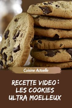 La recette des cookies moelleux americains - The Best Anti İnflammatory Recipes Desserts With Biscuits, Cookies Et Biscuits, Sweet Cookies, Yummy Cookies, Pudding Cookies, Chocolate Chip Recipes, Chocolate Chip Cookies, Chocolate Chips, Healthy Chocolate