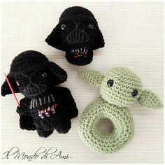 Star wars per i grandi e per i più piccoli  #starwars #guerrestellari #amigurumi #handmade #crochet #fattoamano  #uncinetto #portachiavi #keyring #darthvader #dartfener #lordcasco #yoda #sonaglino