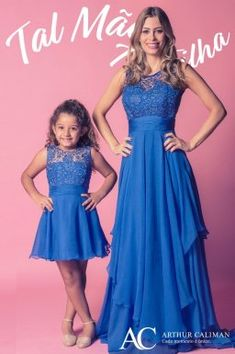 Mother Daughter Art, Mother Daughter Dresses Matching, Mother Daughter Fashion, Mom And Baby Outfits, Girl Outfits, Baby Girl Fashion, Kids Fashion, Girls Dresses, Prom Dresses