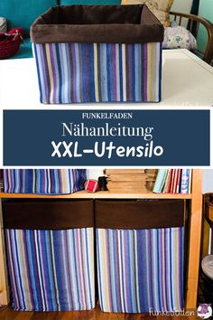 Free sewing instructions XXL-Utensilos sew yourself in the desired size - DIY Anleitungen / Tutorials - Beginner Knitting Projects, Knitting Blogs, Easy Knitting, Knitting For Beginners, Crochet Wool, Free Crochet, Ombre Yarn, Watercolor Art Diy, Baby Ornaments