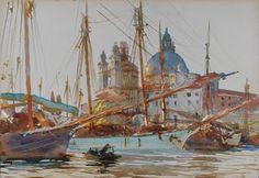 John Singer Sargent's The Church of Santa Maria della Salute, Venice (c1904-09).