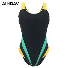 a374fa78c0 M-5XL Professional Sport Swimsuits Women One Piece Swimwear Large Plus Size  Trikini Padded Swimsuit