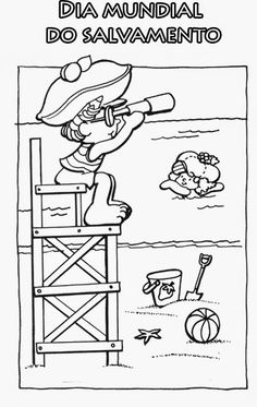 coloring pages of lifeguard stand - photo#26