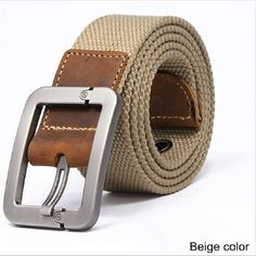 2016 wholesale Real Solid brand Belts for Men Cinto Feminino Men's Fashionable Pin Buckle Canvas Strap Casual Belt Brand