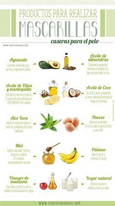INGREDIENTES PARA REALIZAR MASCARILLAS CASERAS