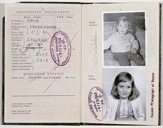 This is the Honorable Diana Spencer's passport. It was published in 1968.