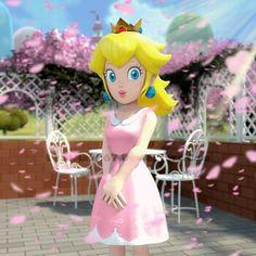 Peach is in cherry blossom festival and she is a pretty girl. Super Mario Bros, Super Mario 1985, Super Mario Princess, Mario And Princess Peach, Nintendo Princess, Princess Daisy, Mario Bros., Mario And Luigi, Mario Party