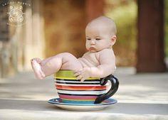 Cute prop ideas for kids photos roll, coffee theme, newborn photos, kid photos, coffee cups, flower pots, babi, ador, teacups