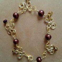 Wire butterflies bracelet