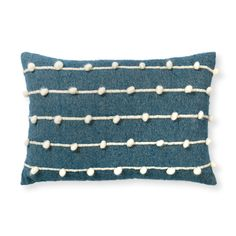 Buy the Indigo Bobble Cushion at Oliver Bonas. Enjoy free UK standard delivery for orders over £50.