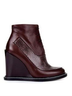 Frida leather and snakeskin boots | Jil Sander | MATCHESFASHIO...