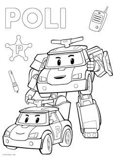 L'équipe des Robocar   Coloriage, Coloriage robocar poli et Dessin a imprimer
