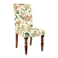 Jeweled Floral Parsons Chair at Kirkland's Dining Room Chair Cushions, Balcony Table And Chairs, Fabric Dining Chairs, Bedroom Chair, Dining Room Chairs, Desk Chair, Dining Tables, Swivel Chair, Dining Area