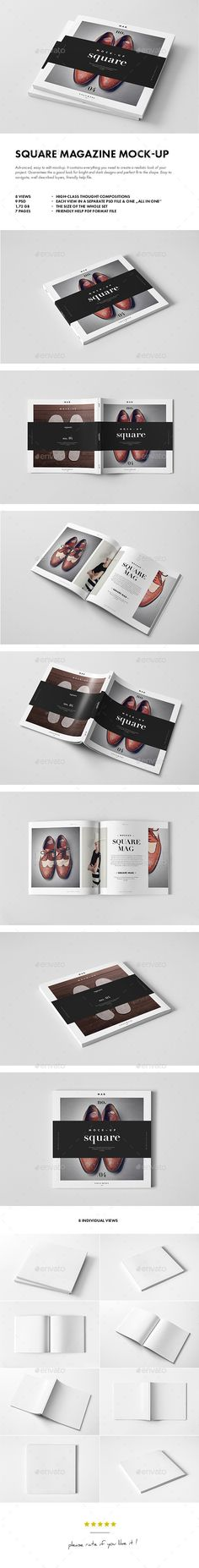 Square Magazine Mock-up | Buy and Download: http://graphicriver.net/item/square-magazine-mockup/9877732?ref=ksioks