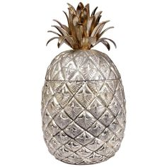 For sale: Pineapple Ice Bucket by Mauro Manetti, Pineapple Ice Bucket, Trendy Taste, Christmas Bulbs, Xmas, Black Sofa, Oldies But Goodies, Rustic Farmhouse, Living Room Decor, Dining Room