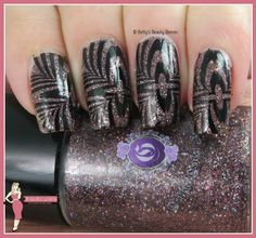 http://www.bettysbeautybombs.com/2015/07/18/gothic-gala-lacquers/ / Nail art using Gothic Gala Lacquers