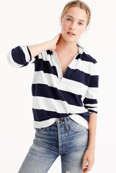 76b19219c62 Shop the Women s 1984 rugby shirt in stripe at J.Crew and see the entire  selection of Women s Knits. Shop Women s clothing   accessories at J.