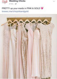 pink & gold glitter