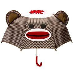 Sock Monkey Umbrella. I need this. I really do.