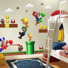 Super Mario Bros Yoshi Removable Decals