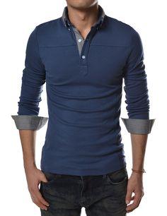 d5ecc6c6bdd3     Theleesshop     All mens slim   luxury items. Navy Blue Polo  ShirtsCasual ...