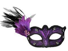 I Love Purple Masquerade Mask