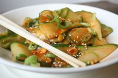 Korean side dish: cucumber sangchae