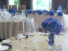 アジサイの青の装花 ホテルニューオータニ アザレア様への画像:一会 ウエディングの花