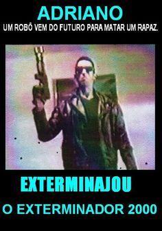 EXTERMINAJOU 1 Com Adriano Santos Caldeira como Jou e Exterminajou (2000) Filme escrito, produzido e dirigido por Adriano Jou