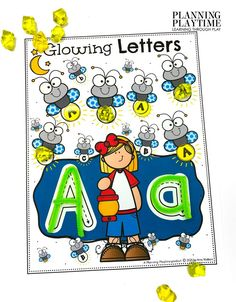 Light the Fireflies with the Matching Target Letter. - Pre-k Camping Worksheets