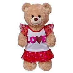 Love Heart Sparkle Skirt Outfit 2 pc. | Build-A-Bear Workshop