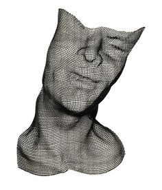 Wire Mesh Face by Human Scale Studio