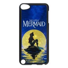 @Dannah1216  HOT Selling Beautiful GOLD Moon THE LITTLE MERMAID Phone Case for APPLE iPod Touch 5th Generation Best Durable Hard Plastic Case Panbox Case