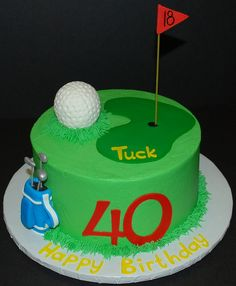Great golf cake! i know who to get this made for! ;)