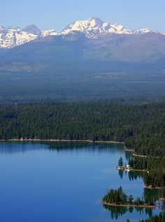 Holland Lake and Holland Lake Lodge, MT. My grandparents used to own the lodge on this lake... Beautiful!