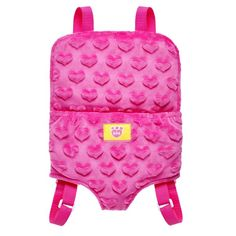Fuchsia Pink Furry Friend Backpack Carrier Build A Bear Workshop Accessory Build A Bear Accessories, Build A Bear Outfits, Baby Doll Toys, Bear Birthday, 10 Birthday, Baby Alive, Heart Patterns, Disney Style, Souvenir