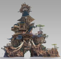 ArtStation - Tribe of frog village entrance (2017.02), K M