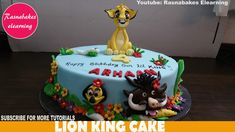 lion king birthday cake or baby shower theme jungle animals design ideas. Cricket Birthday Cake, Easy Kids Birthday Cakes, Easy Cakes For Kids, Cartoon Birthday Cake, Friends Birthday Cake, Animal Birthday Cakes, Frozen Birthday Cake, First Birthday Cakes, King Birthday