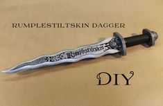 idea for doing with polymer clay. DIY • Rumpelstiltskin´s Dagger l Craft With Me