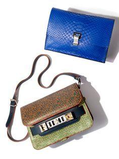 New, fun pieces from the Proenza Schouler handbag collection.
