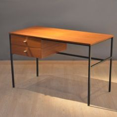 Located using retrostart.com > Writing Desk by Pierre Guariche for Meurop